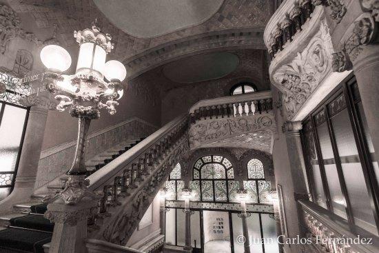 palau de la musica orfeo catala escaleras interiores