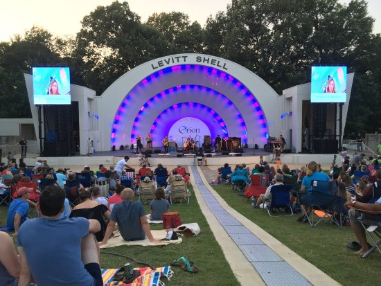 Levitt Shell: They offer a nice walkway right down the middle of the amphitheater.