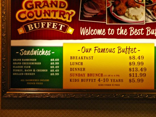 prices picture of grand country buffet branson tripadvisor rh tripadvisor com country buffet prices for lunch country buffet prices colorado springs