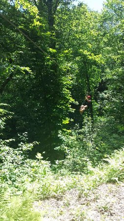 Andrews, Carolina del Norte: My first time zip-lining!