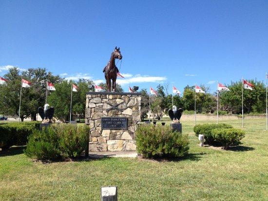 Brackettville, TX: Entrance.