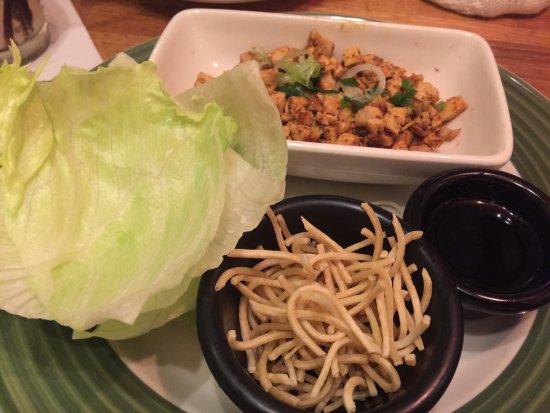 Applebee's : 1-Chicken wrap.  2- Shrimp.  3- Brawni.