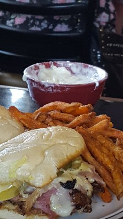 Stanchfield, MN: Sweet potatoe fries with the marshmallow dipping sauce