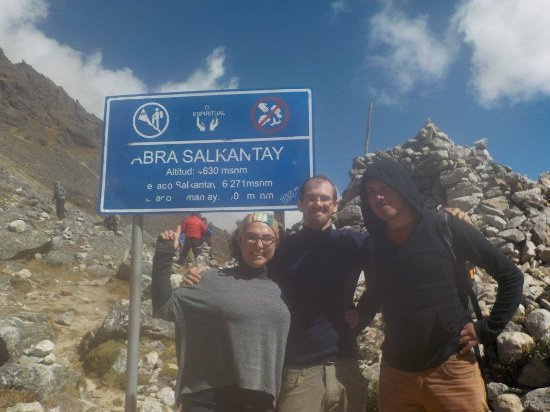 Pachamama Explorers - Private Day Tours: Us and our guide, Carlos, at the top of Salkantay.