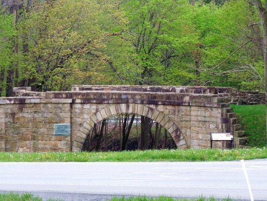 Cresson, Pennsylvanie : Skew Bridge at Allegheny Portage Railroad NHS