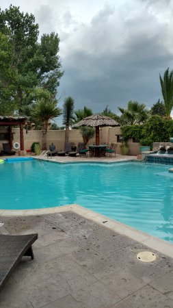 Gage Hotel: The pool area