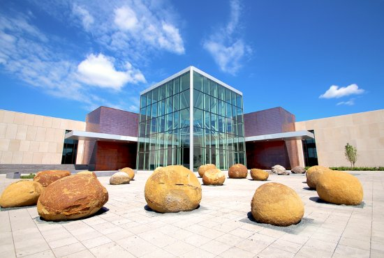 North Dakota Heritage Center & State Museum: Pembina River Plaza and Northern Lights Atrium