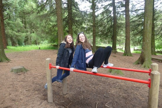 Goosnargh, UK: My daughters in one of the play areas