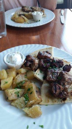 Pork platter and lemon potatos