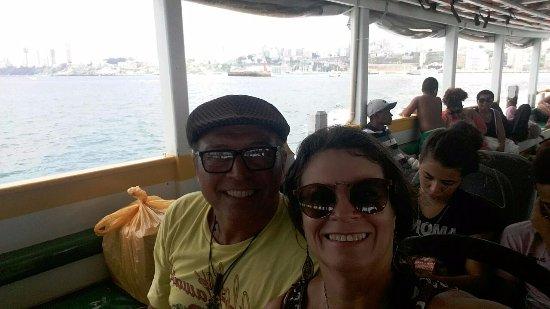 Pousada Aconchego: No barco a caminho do Morro de SP