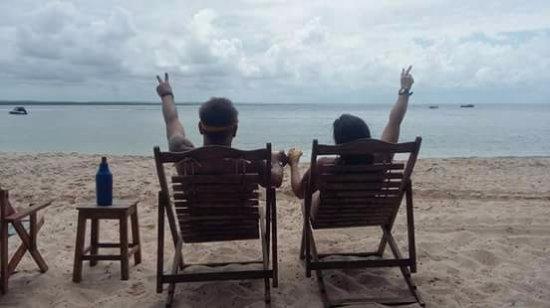 Pousada Aconchego: Praia da Gamboa. Fomos a pé quando a maré estava baixa