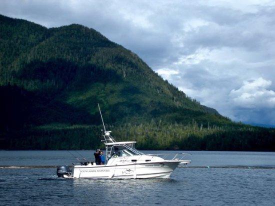 One of Nootka Marine Adventures' sport fishers