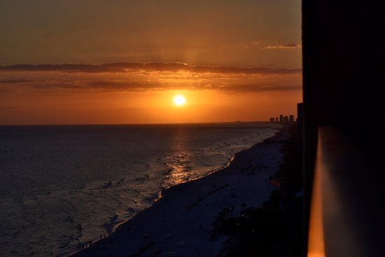 Gulf Crest: Sunset from our balcony
