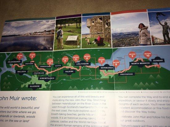 Ανατολικά Lothian, UK: Overview of trail