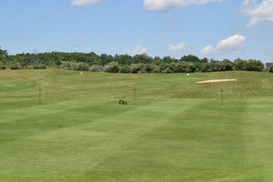 The Crown Golf Club: The Driving range.