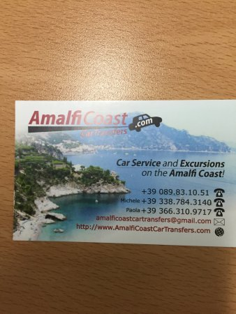 Amalfi Coast Car Transfers