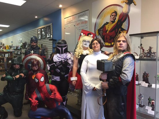 Heroes for Hope cosplayers at Alter Ego Comics of Lima, Ohio.