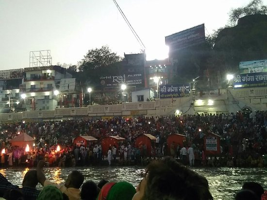 ‪Ganga Aarti at Haridwar‬