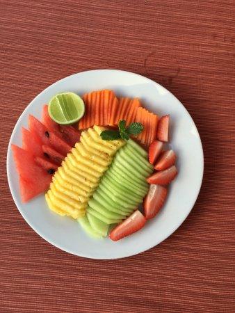 Rancho Pescadero: Fruit plate. Que fresco!