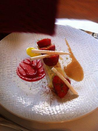 Senonches, Frankrike: dessert à la fraise