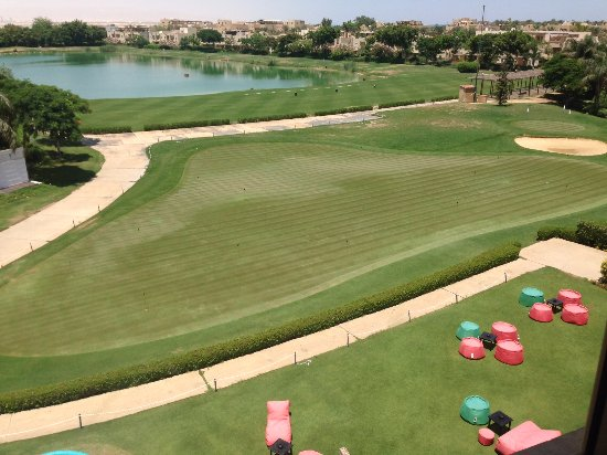 Stella Di Mare Golf Hotel, Ain Sukhna: the Golf + Kids play grounds taken from my room window