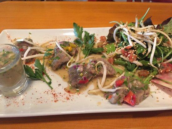 La Porte d'A Cote: Ceviché de thon  Tartines d'os à moelle