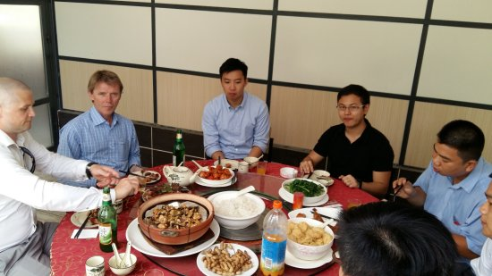 Luoding, Kina: had a great dinner with my colleagues