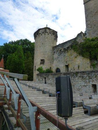 Hassmersheim, Germania: Burg Guttenberg - Tribüne Flugschau