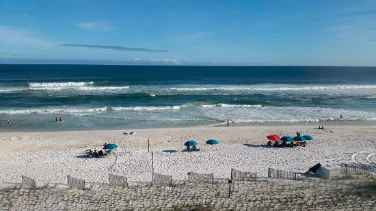 Island Echos Condominiums: View of the beach from our condo