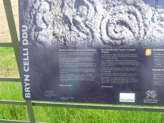 Gaerwen, UK: Information board nearby
