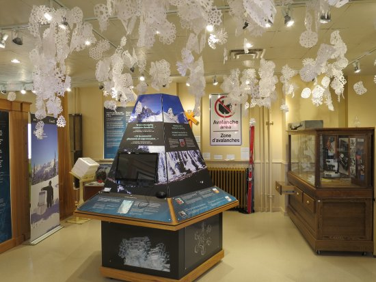 Revelstoke Museum: Land of Thundering Snows exhibit, where each snowflake represents a death by avalanche