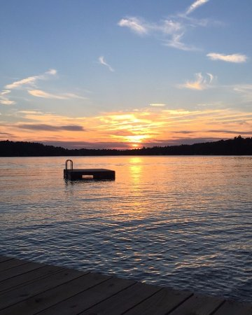 Wolfeboro, NH: Unedited sunset from the dock...simply stunning!