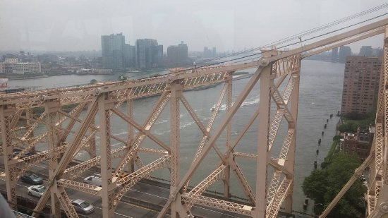 The Roosevelt Island Tramway View Of 59th Street Bridge And East River From Manhattan Tram