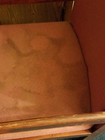 Econo Lodge: disgusting stains on chairs