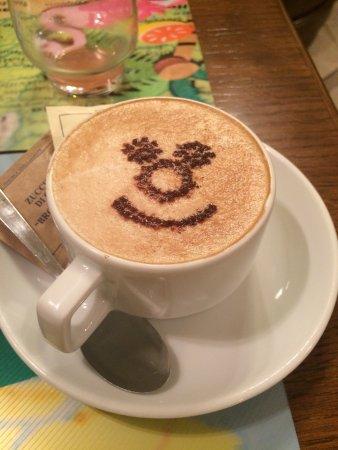 Hotel Santa Croce: Café con una sonrisa!! Preparado al momento!! Gracias por tan linda hospitalidad.