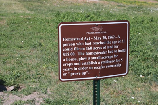 Prairie Homestead Historic Site: Homestead Act