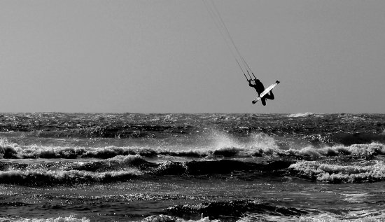 Kitesurfing South Jetty, summer time in Florence :)