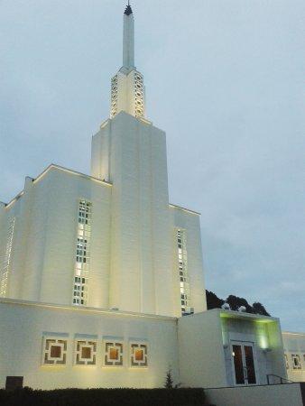 Hamilton New Zealand Temple: Temple at Dusk