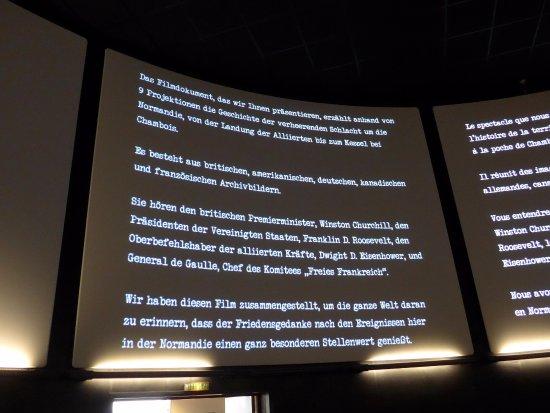 Arromanches 360 : Große Leinwände