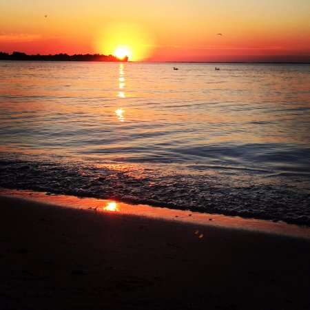 Prudenville, MI: Amazing sunset on the lake.