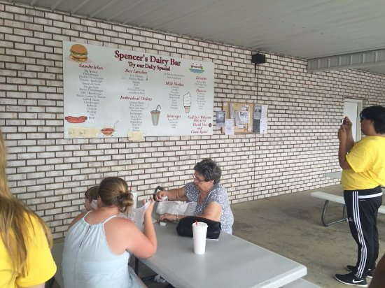 Booneville, KY: Spencers Dairy Bar Menu