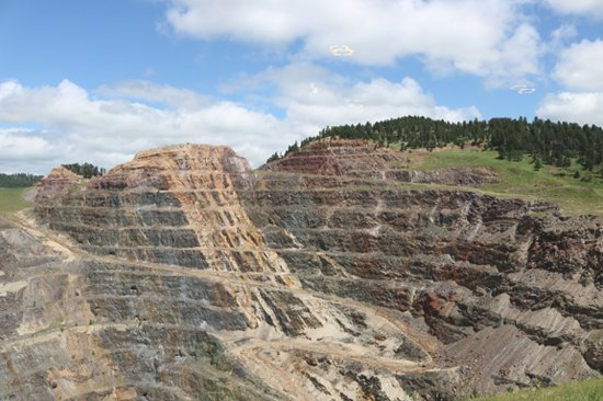 Black Hills Mining Museum: open pit