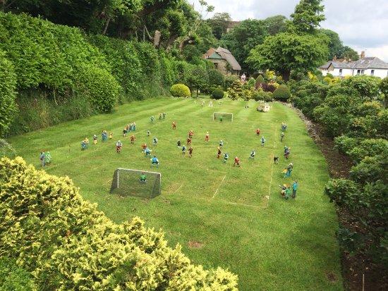 Godshill Model Village: Local football match