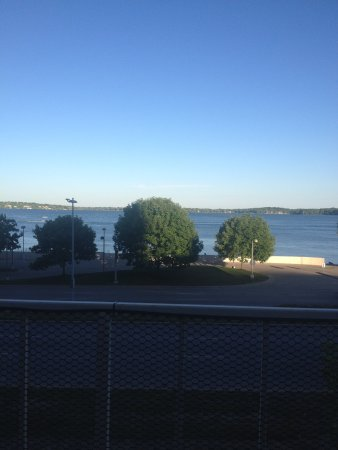 Paisan's: view of the lake from our table