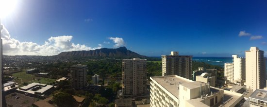Hyatt Place Waikiki Beach: Amazing view from PH level (20th floor)