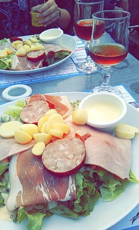 Saint-Jean-de-Losne, Prancis: Salade Pauline