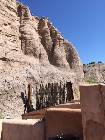 Ojo Caliente, Nouveau-Mexique : A view from one of the pools