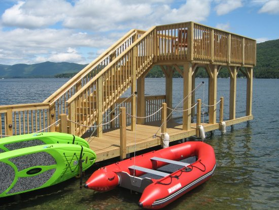 Lake Motel: New two level dock