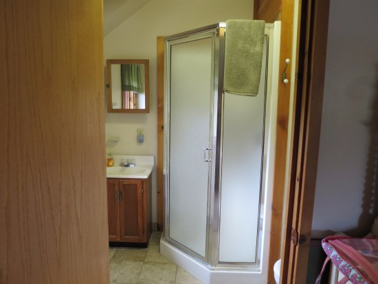 Gustavus, AK: bathroom to upstairs room in main building