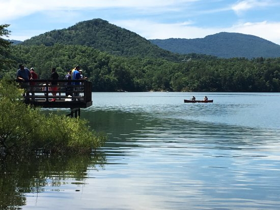 Carvins Cove Natural Reserve: Very nice lake and ride on kayak